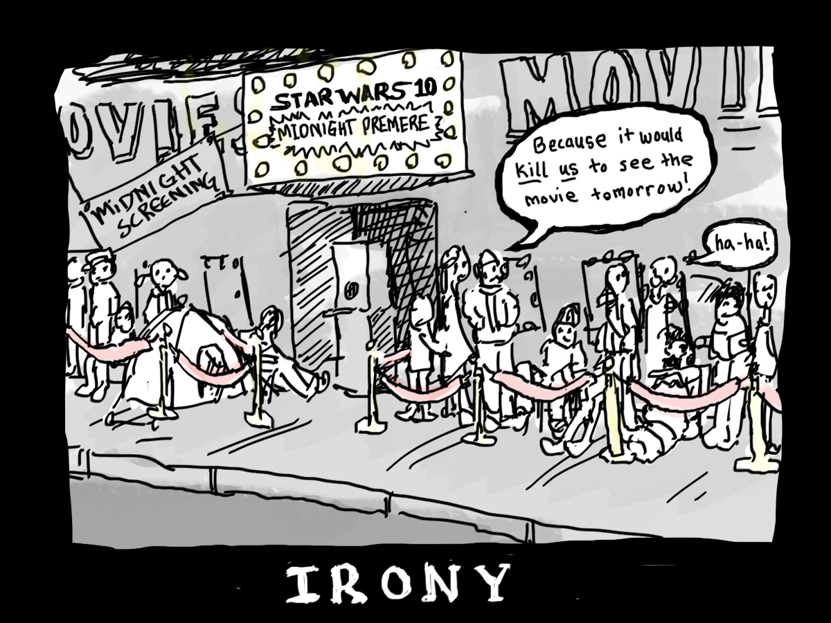 the origins meaning and use of irony in literature