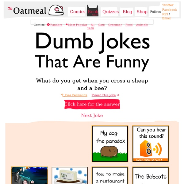 Stupidly funny jokes