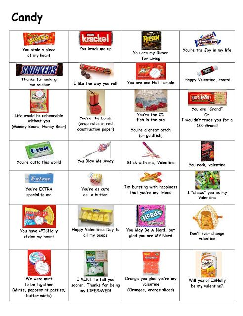 Valentines Day Candy Puns