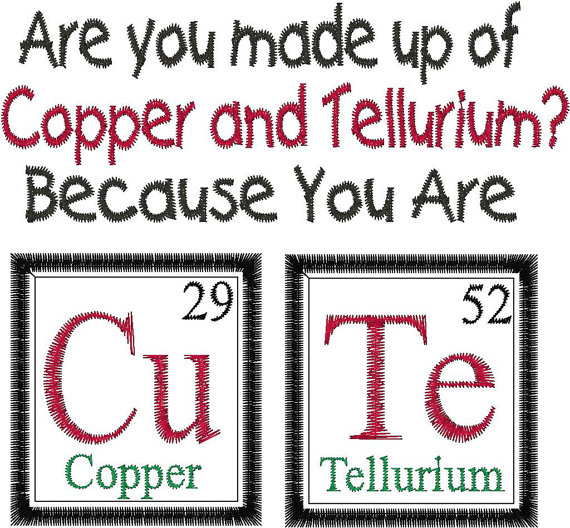 Periodic Table Inspired Valentine Gigs Pinterest